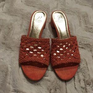 Adrianna Papell Slip On Block Heel Sandal